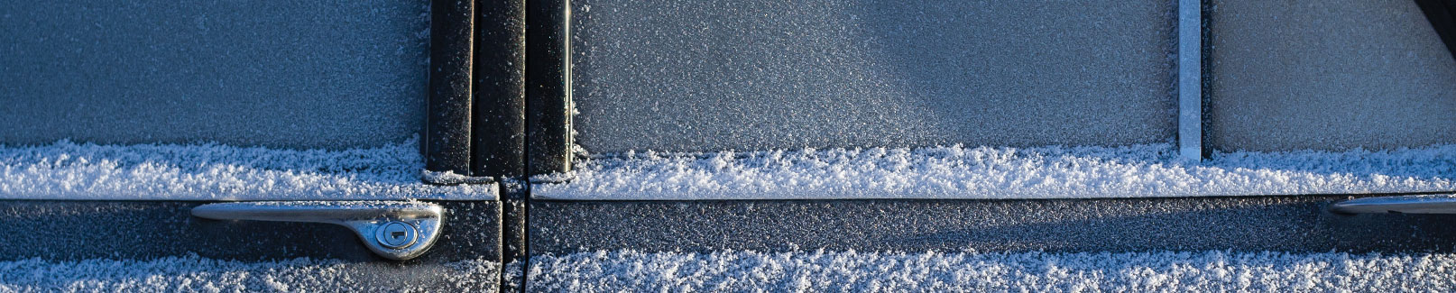 Car door in snow