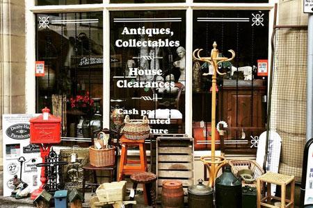 JB Antiques Shop Front
